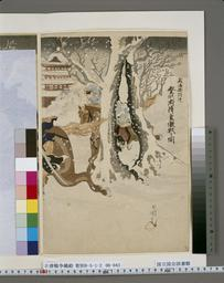 NDL-1312132威海衛附近登州府降雪激戦之図(収載資料名:日清戦争錦絵) 明治28・・『』